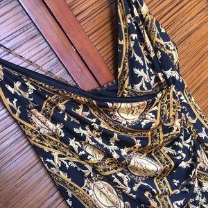 Fashion Nova Chain Print Wrap Dress in Size 3x